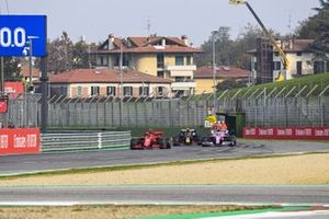 Charles Leclerc, Ferrari SF1000, Lance Stroll, Racing Point RP20, and Alex Albon, Red Bull Racing RB16