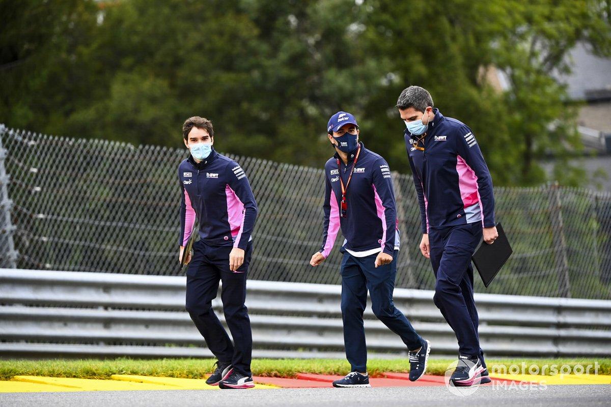 Sergio Perez, Racing Point fait son tour de piste avec ses ingénieurs