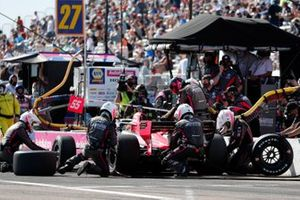 Alex Palou, Dale Coyne Racing with Team Goh Honda, pit stop