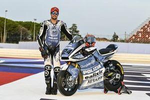 Simone Corsi, decoración de la moto Forward Racing