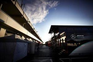 Mercedes-AMG F1 motorhome in the paddock