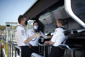 James Allison, Technical Director, Mercedes AMG, on the pit wall