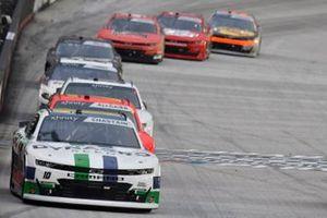 Ross Chastain, Kaulig Racing, Chevrolet Camaro Dyna-Gro Seed, Justin Allgaier, JR Motorsports, Chevrolet Camaro BRANDT