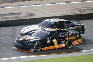 Michael Annett, JR Motorsports, Chevrolet Camaro TMC, Riley Herbst, Joe Gibbs Racing, Toyota Supra Monster Energy