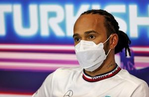 Pole Sitter Lewis Hamilton, Mercedes in the Press Conference