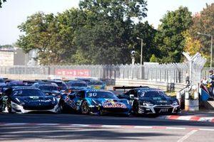 Start action, Nick Cassidy, AF Corse Ferrari 488 GT3 Evo, Liam Lawson, AF Corse Ferrari 488 GT3 Evo, Kelvin van der Linde, Abt Sportsline Audi R8 LMS GT3