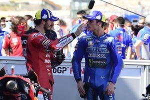 1. Francesco Bagnaia, Ducati Team, 3. Joan Mir, Team Suzuki MotoGP