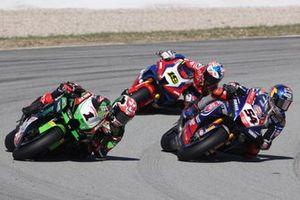 Jonathan Rea, Kawasaki Racing Team WorldSBK, Toprak Razgatlioglu, PATA Yamaha WorldSBK Team, Alvaro Bautista, Team HRC