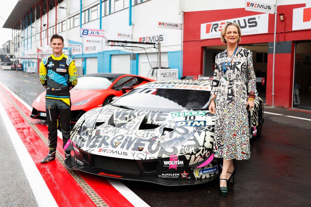 Esteban Muth, T3-Motorsport with Princess Delphine de Saxe Cobourg