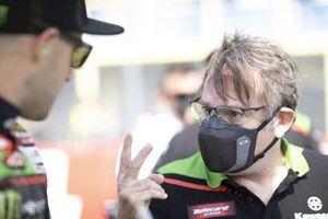 Davide Gentile avec Jonathan Rea, Kawasaki Racing Team WorldSBK