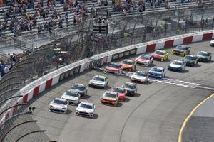 Austin Cindric, Team Penske, Ford Mustang Carshop, Harrison Burton, Joe Gibbs Racing, Toyota Supra DEX Imaging