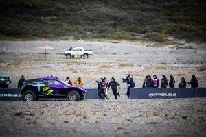 Cristina Gutierrez/Sebastien Loeb, X44, att he driver change