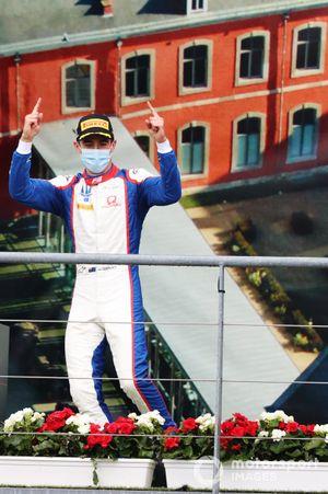 Winner Jack Doohan, Trident celebrates with on the podium