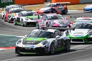 Marius Nakken, Dinamic Motorsport, leads Ayhancan Guven, martinet by Almeras, Philippe Haezebrouck, CLRT, and Moritz Sager, Dinamic Motorsport