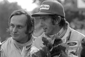 Chris Amon, Matra with race winner Jackie Stewart, Tyrrell