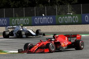 Sebastian Vettel, Ferrari SF1000, leads Nicholas Latifi, Williams FW43