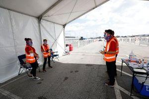 IMSA COVID screening team
