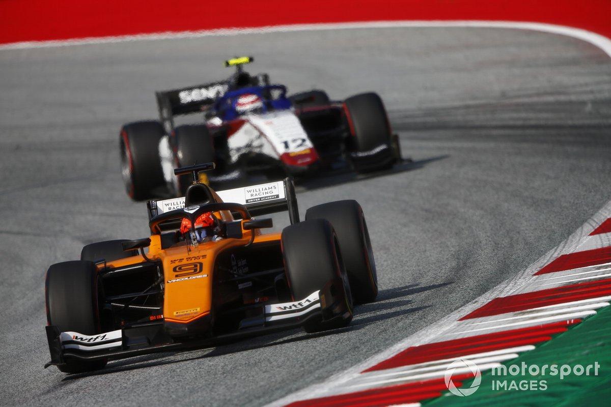 Jack Aitken, Campos Racing, precede Pedro Piquet, Charouz Racing System
