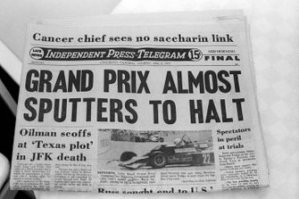 The Grand Prix attracted front page headlines in the local newspapers