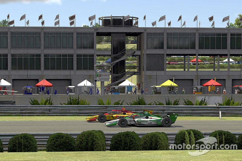 Kyle Kirkwood, Andretti Autosport Honda, Colton Herta, Andretti Harding Steinbrenner Autosport Honda