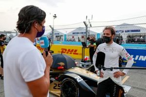 TV Presenter Vernon Kay interviews Jean-Eric Vergne, DS Techeetah on the grid