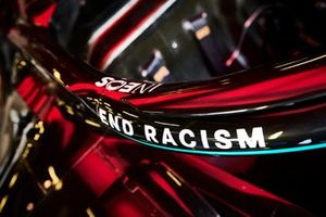 End Racism detail on the Mercedes F1 W11