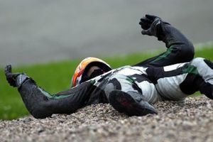 Jarno Janssen, Honda, crash