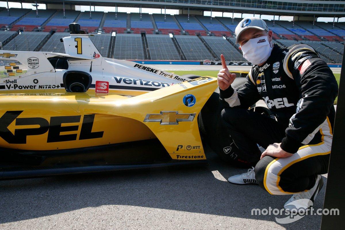 Il vincitore della gara e poleposition, Josef Newgarden, Team Penske Chevrolet