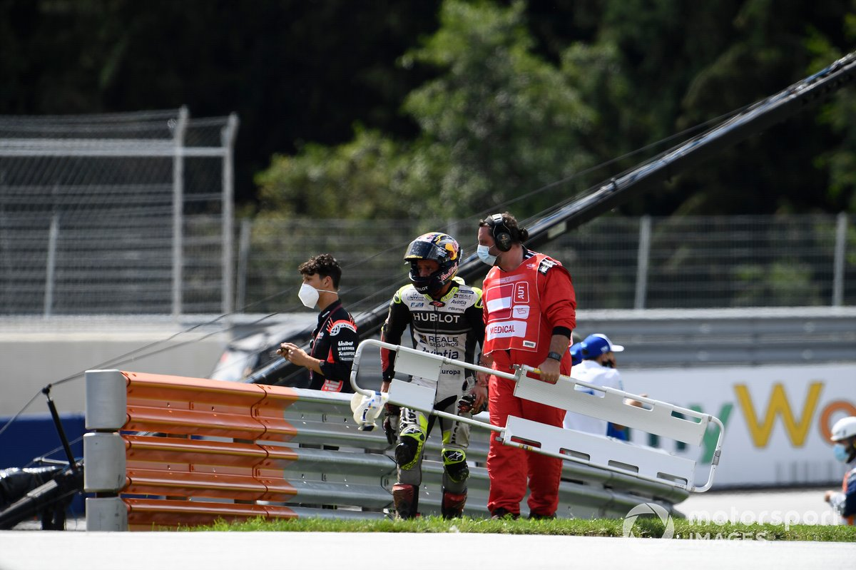 Accidente de Johann Zarco, Avintia Racing