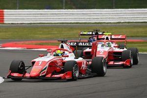 Oscar Piastri, Prema Racing, leads Frederik Vesti, Prema Racing