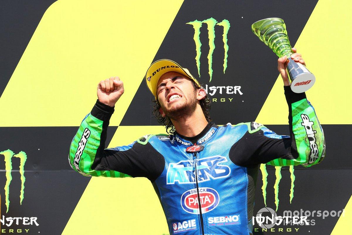Podio: il vincitore della gara Enea Bastianini, Italtrans Racing Team