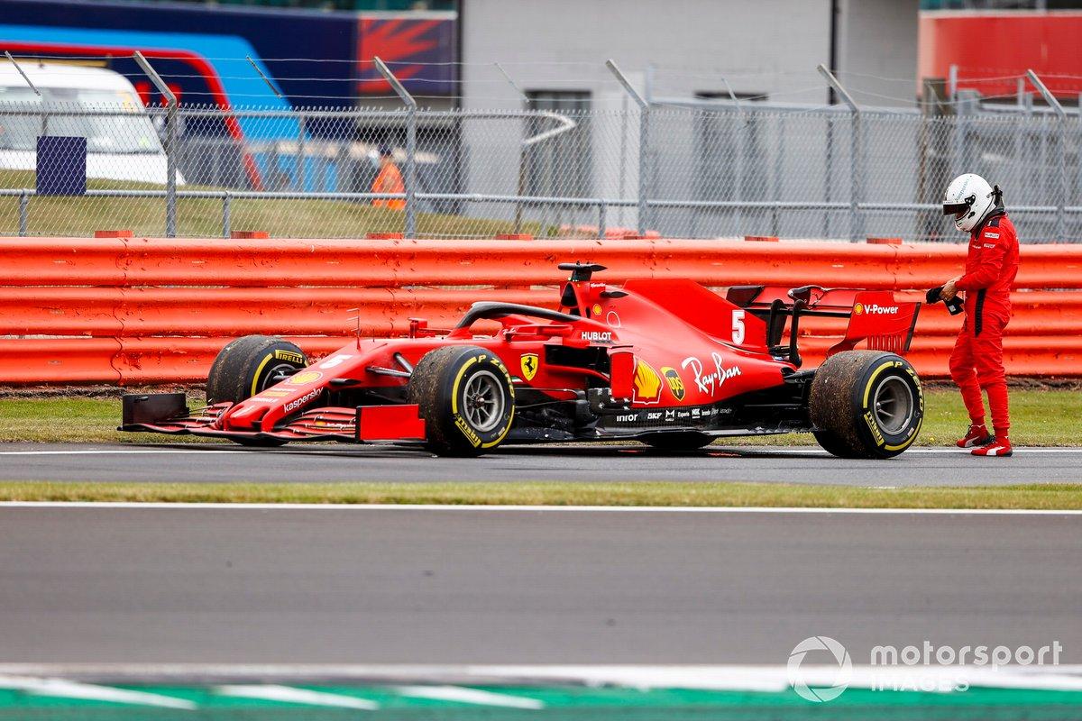 Sebastian Vettel, Ferrari SF1000 se retira de la práctica tras un fallo en el monoplaza