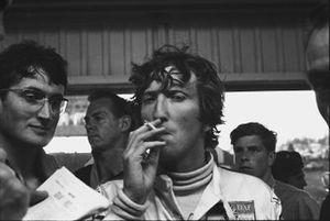 Jochen Rindt e John Miles ai box, GP del Sud Africa del 1970