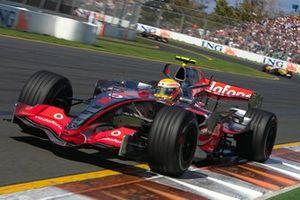 Lewis Hamilton, McLaren MP4-22, GP d'Australia del 2007