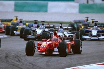 Michael Schumacher, Ferrari F2001, sans son aileron avant