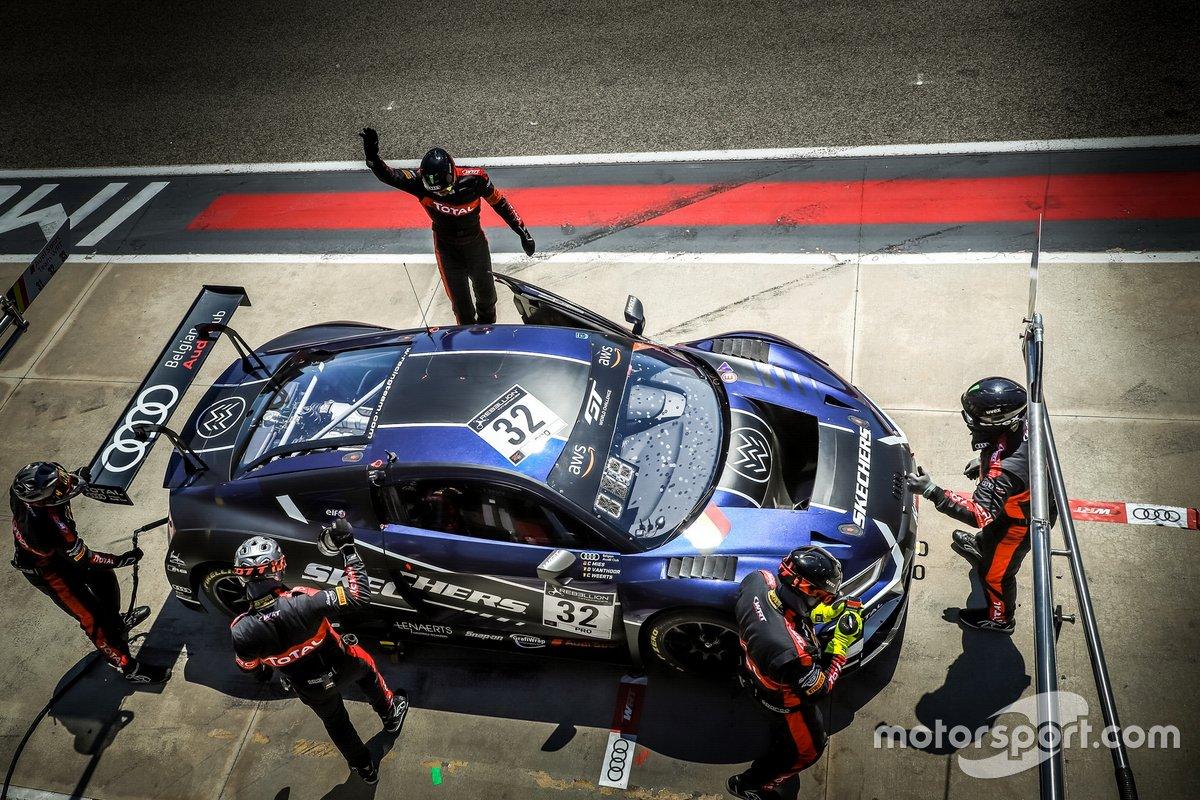 #32 Team WRT Audi R8 LMS GT3: Christopher Mies, Dries Vanthoor, Charles Weerts
