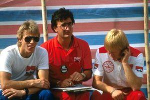 Eddie Jordan with Stefan Johansson