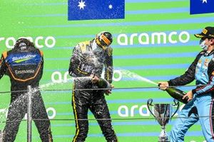 Alexander Peroni, Campos Racing, Race Winner Oscar Piastri, Prema Racing And Matteo Nannini, Jenzer Motorsport on the podium