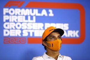 Lando Norris, McLaren, en conférence de presse