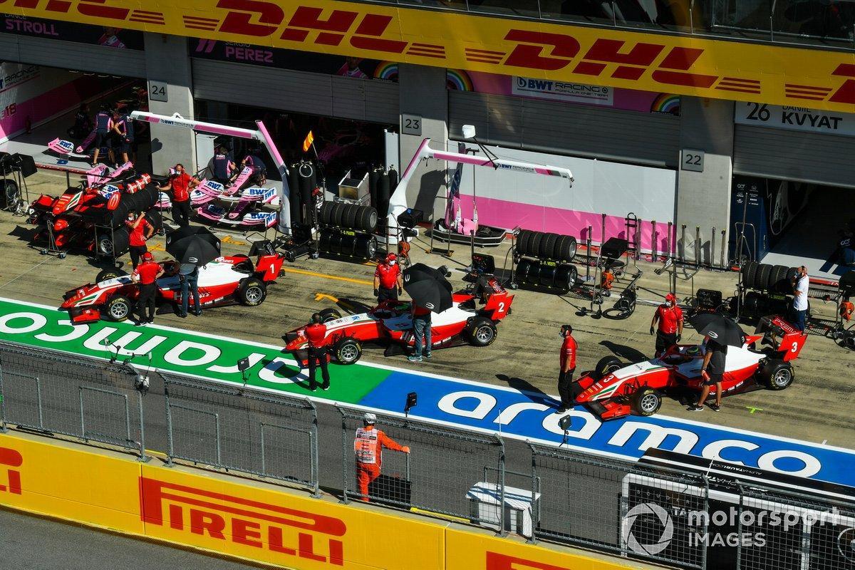 Oscar Piastri, Prema Racing, Frederik Vesti, Prema Racing e Logan Sargeant, Prema Racing