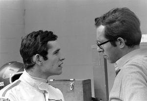 Jacky Ickx, with Ferrari designer Mauro Forghieri