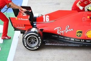 Rear detail of the Charles Leclerc Ferrari SF1000