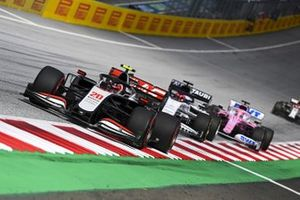 Kevin Magnussen, Haas VF-20, Daniil Kvyat, AlphaTauri AT01 and Sergio Perez, Racing Point RP20