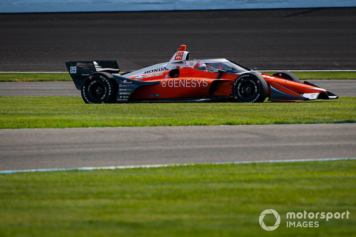 James Hinchcliffe, Andretti Autosport Honda goes off track