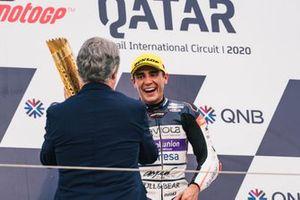 Podium: Race winner Albert Arenas, Aspar Team