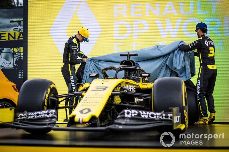 Esteban Ocon, Renault F1 e Daniel Ricciardo, Renault F1 Team rivelano la livrea della Renault F1 Team R.S.20