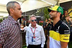 Robbie Williams and Daniel Ricciardo, Renault F1 Team
