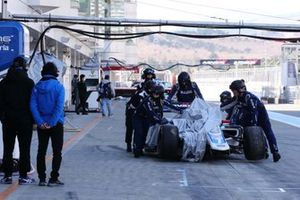 The crashed car of Kamui Kobayashi, carrozzeria Team KCMG