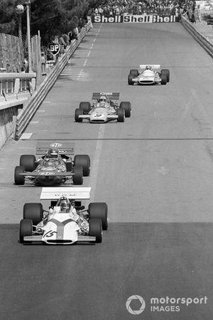 Pedro Rodriguez BRM P160, Ronnie Peterson, March 711 Ford, Denny Hulme, Mclaren M19A, Jean Pierre Beltoise, Matra MS120B