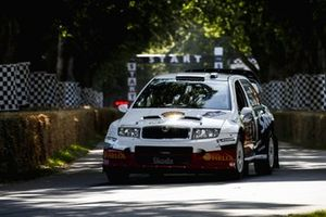 Skoda Fabia S2000, Martin McCormack, rallied in period by Colin McRae